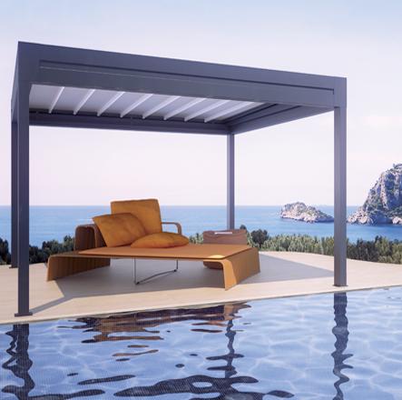 Pérgolas Bandalux Mallorca zona piscina
