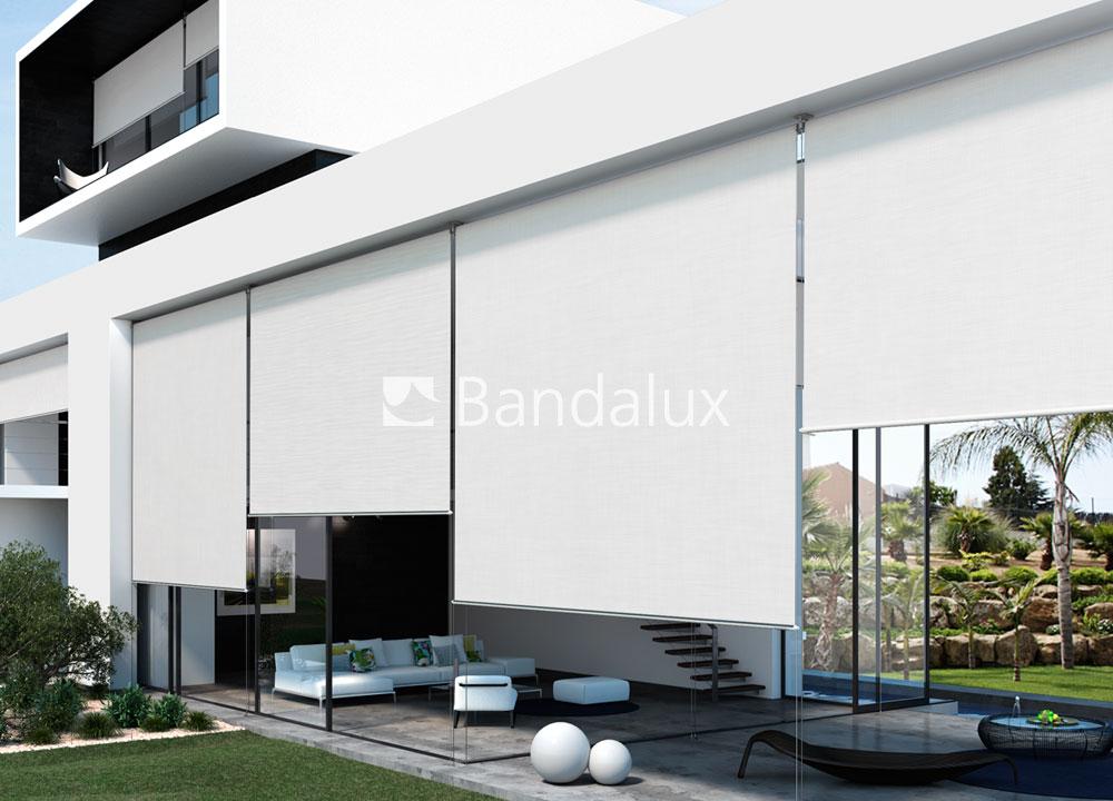 Enrollable exterior bandalux enrollable exterior for Cortinas de plastico para exteriores