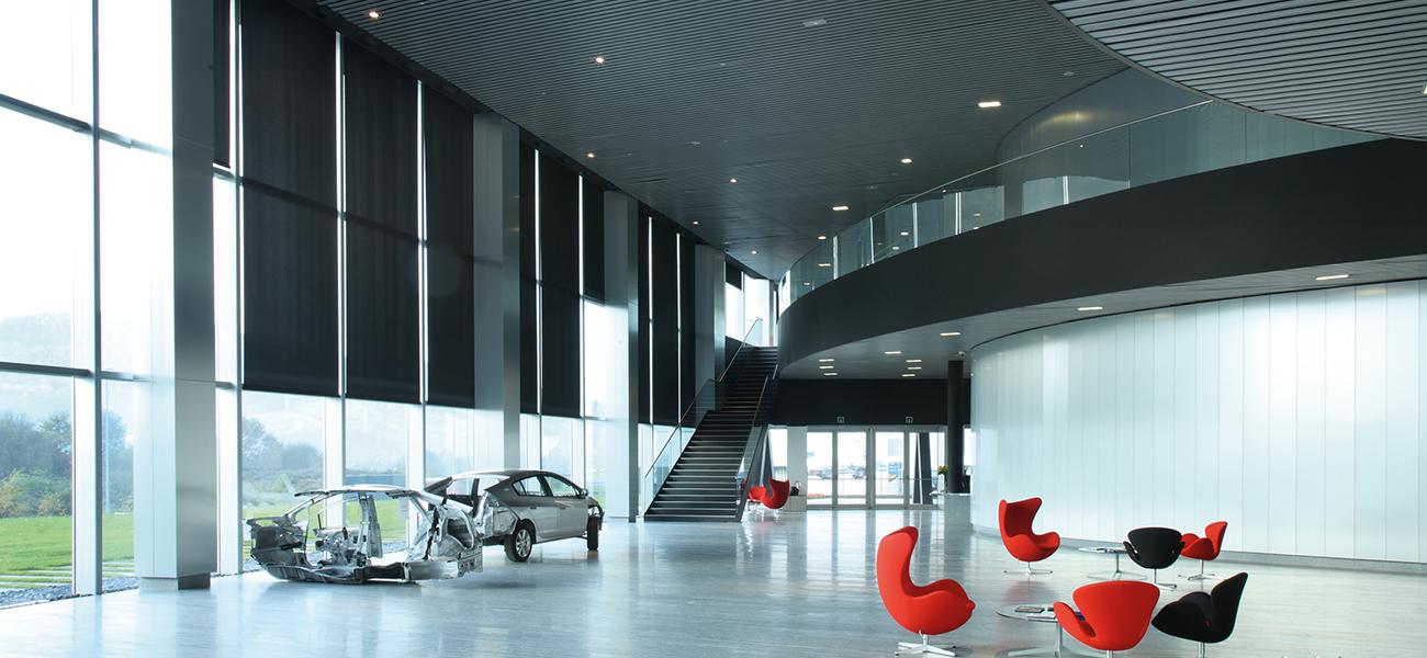 Cortinas motorizadas Bandalux Mallorca para oficinas