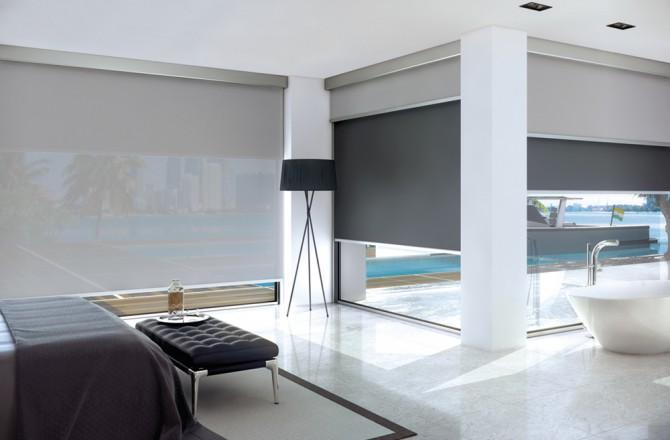 Bandalux Mallorca cortinas tono oscuro